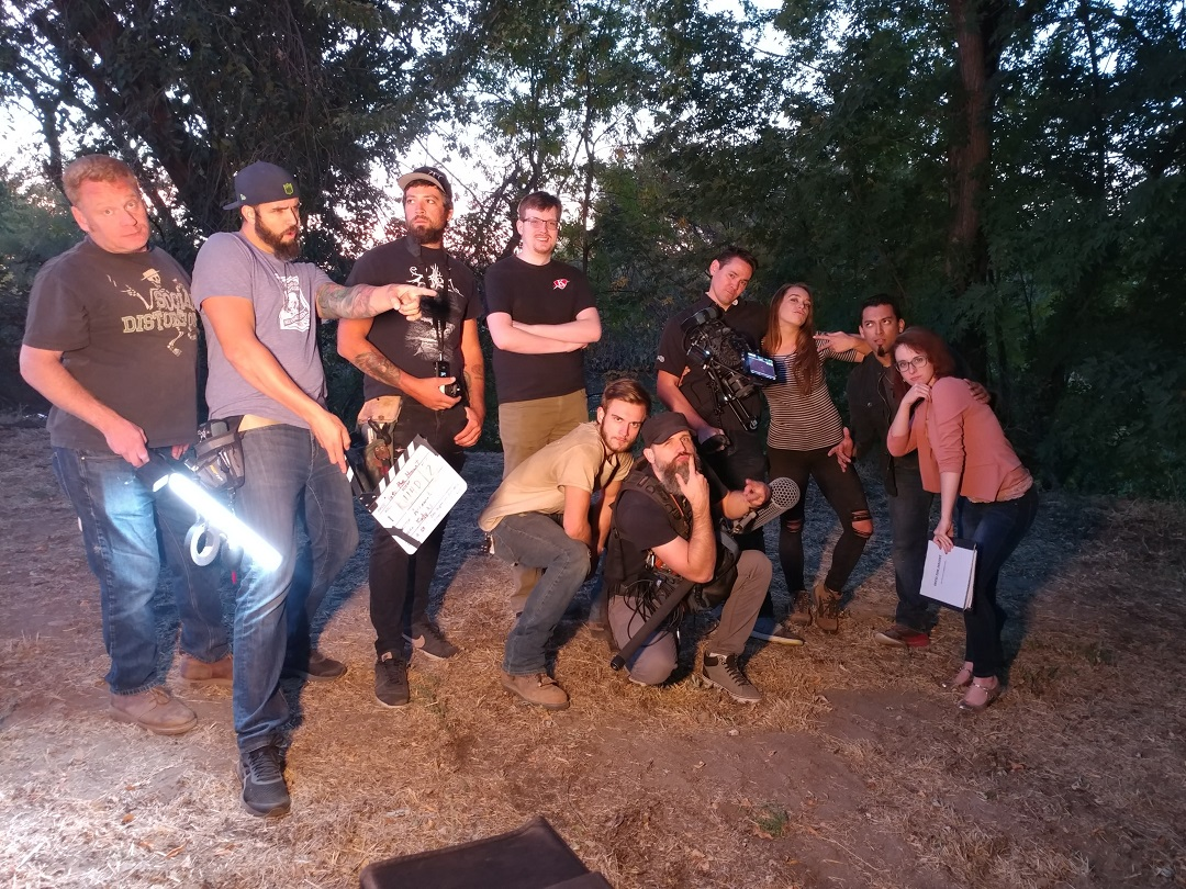 """Film crew of """"Into the Haunt"""" directed by Film Connection graduate Arronn Lepperman"""